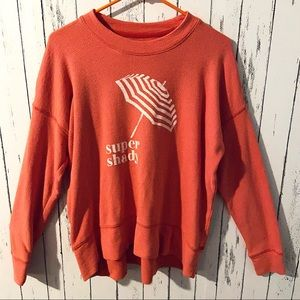 Aerie super shady waffle knit top